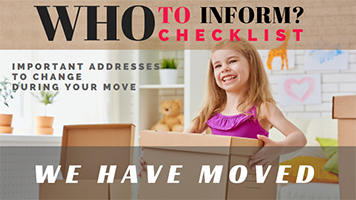 Who to notify when you move checklist