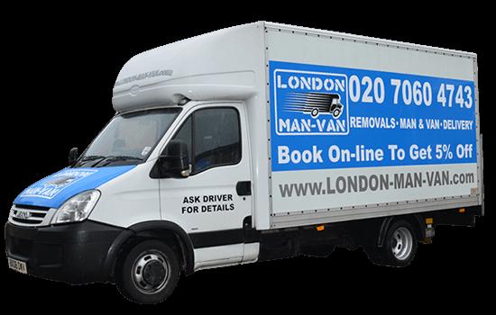 Man and Luton Van in London